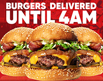 Burger UrWay Delivery Poster