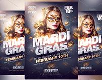 Mardi Gras Flyer Template - Adobe Photoshop