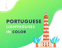 Portuguese lighthouses in color