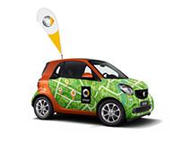 Smart city car branding for Ukrainian launch