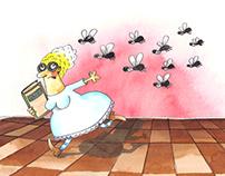 """Children's book illustrations """"Kicsi, nagy, középs"""