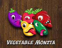 Vegetable monzta - match 3 game assets