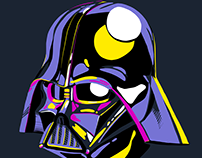Star wars vector colorful fan art