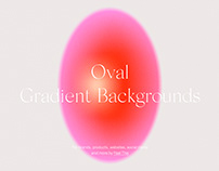Oval Colorful Gradient Backgrounds With Grain Texture