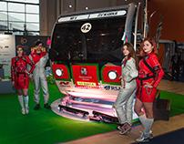 Горнолыжная кабинка и автомобиль на «ЭкспоСитиТранс»