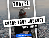 TRAVEL with friends (UX-Design)