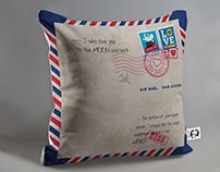 H&A Cushion design; Love letter