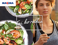 Food styling for Maxima