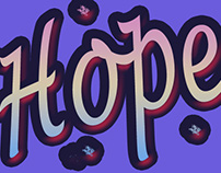 Hope Typography letter - digitalart