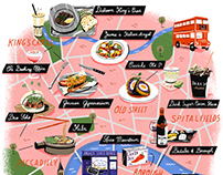 London // illustrated map