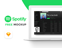 Free Spotify Mockup On Behance