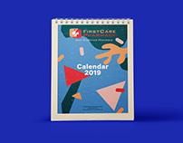 Print: FirstCare Pharmacy desk calendar