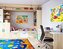 Children's room - 3D visualization
