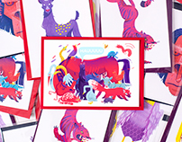 animals postcards