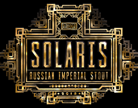 Solaris - Russian Imperial Stout Beer Label