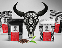 Identity and packaging design for Tribal coffee