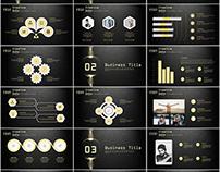 27+ golden creative business design PowerPoint template