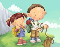 Psalm 23 - Children's Book Illustration