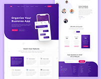 Mobile App landing page project