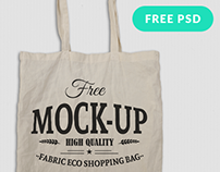 Free Canvas Tote Bag Mockup