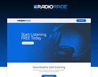 RadioRage Landing Page Redesign