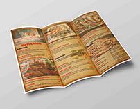 menu designs By Nomad travel studio.com