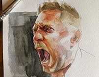 Watercolor The Miz