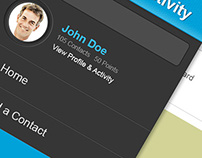 Business Card Social Networking Mobile App Design