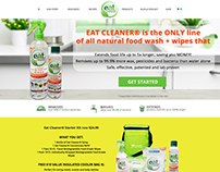 New home page for EatCleaner.com