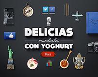 Delicias mundiales con Yoghurt / Infographics