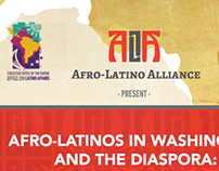 Afro-Latino Alliance Logo and Flyer