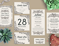 Free Wedding PSD Package Templates with Sepia Roses
