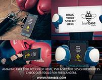 Boxing - free PSD Mockups #11