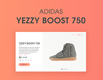Adidas Yezzy boost 750 store page