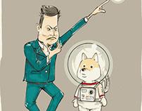 Elon & Doge - Cartoon