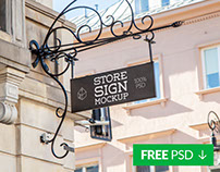 Free Store Sign Mock-up 4