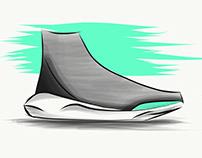 CONCEPT SHOE - Finger draw in Illustrator Mobile