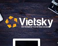 Dự án thiết kế logo công ty du lịch Vietsky