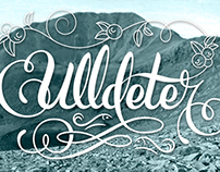 Ulldeter lettering, where a river is born 100% Inkscape