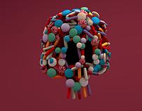 3D sweets-skeleton
