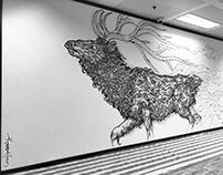 DBS BANK MURAL DEER