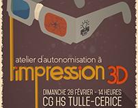 Atelier d'impression 3D | Flyer