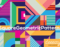 Free Square Geometric Patterns