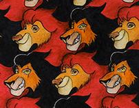 Malha de Escher - Rei Leão