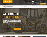 Theme-forest Template Responsum | Construction Template