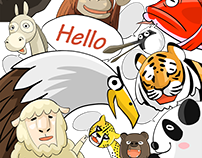 """World Greetings (Hello & Bye)"" - LINE STICKERS"