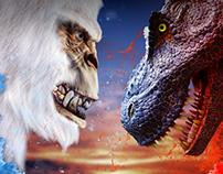 Yeti vs T-Rex