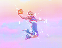 Damian Lillard wallpaper design