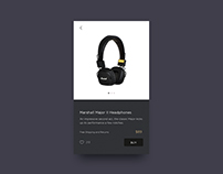 UI Challenge 10 - Marshall Shop