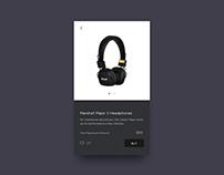 UI Challenge 10 - Marshall Shop